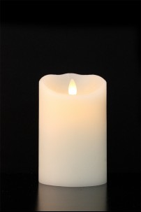 "LUMINARA FLAMELESS CANDLE 3.5""DIA x 5""H SMOOTH FINISH PILLAR BATTERY OPERATED WITH TIMER WARM VANILLA SCENT AND STANDARD PACKAGING [312404]"