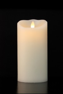 "LUMINARA FLAMELESS CANDLE 3.5""DIA x 7""H SMOOTH FINISH PILLAR BATTERY OPERATED WITH TIMER WARM VANILLA SCENT AND STANDARD PACKAGING [312432]"