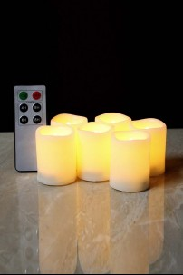 Battery Operated Votive Candles Include Remote Control and 250 Hour Battery Life [349105]