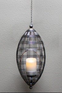 "Metal Hanging Lantern, Height: 20"" [378326]"