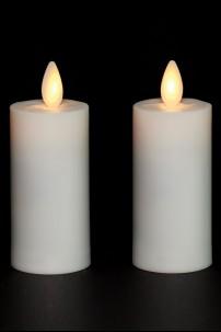 "LIGHTLi (Set of 2) 1.5"" x 3"" Plastic Votive Candle 38410007"