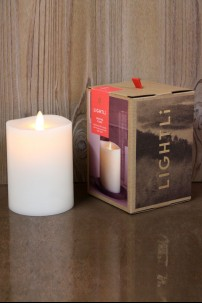 LIGHTLi Ivory, Smooth Wax Pillar 3.5 x 5 38410032