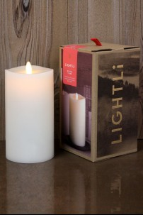 LIGHTLi Ivory, Smooth Wax Pillar 3.5 x 7 38410033