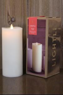 LIGHTLi Ivory, Smooth Wax Pillar  3.5 x 9 38410034