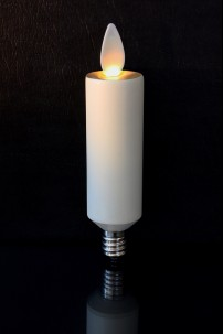 "Moving Flame 2.5"" E12 Ivory Chandelier Bulb [384294]"
