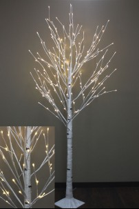 7' LED WHITE BIRCH TREE  [423002]