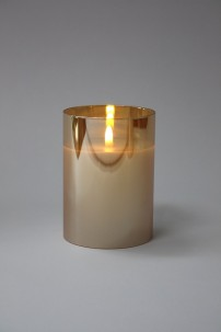 "3.5""D x 5""H CHAMPAGNE RADIANCE POURED CANDLE  [478265]"