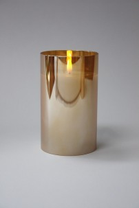 "3.5""D x 6""H CHAMPAGNE RADIANCE POURED CANDLE  [478266]"