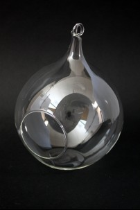 "Glass Tea Light Holder - Round 5.8"", 7"" [901207]"