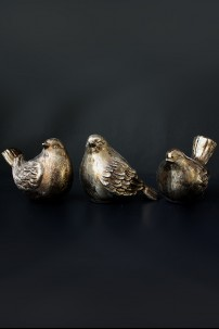 "Birds, Bronze Finish, 8.5"" x 6.5"", Set of 3 [901260]"