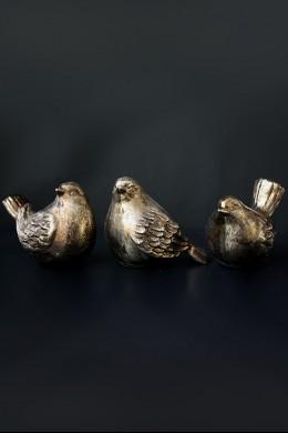 "Birds, Bronze Finish, 8.5"" x 6.5"", Set of 3 [901260]"