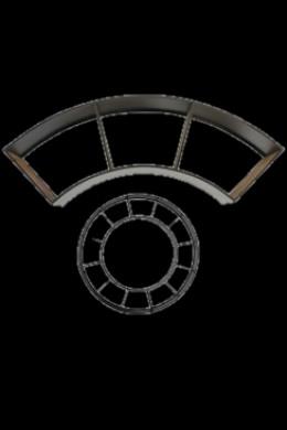 """Quarter Piece for Circular Shelving 56"""" x 10"""" x 22"""" [901262]"""