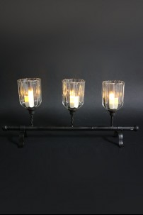 Metal / Glass Candle Holder 3 Count [901264]