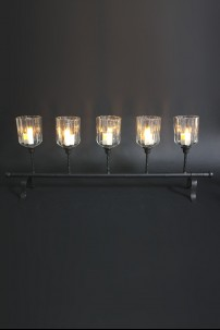 Metal / Glass Candle Holder 5 Count [901265]