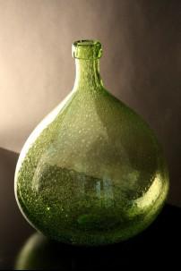 GREEN BOTTLE VASE 13 INCH [944101]