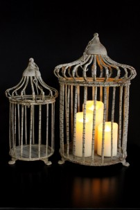 "Birds of a Feather Cage (Set of 2) Height 15"", 17"" [BC100]"
