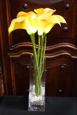 Calla Lily Yellow 8 Light - Battery Operated [CLYL8-B]
