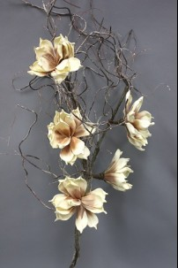 "Yellow and Brown Foam Flower 60"" [FF1640YB]"