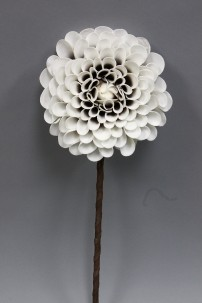 "Arriving Sept. 2017 White and Gold Foam Flower 51"" [FF2280]"