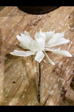 "WHITE  FOAM FLOWER 7""D (FF2335)"
