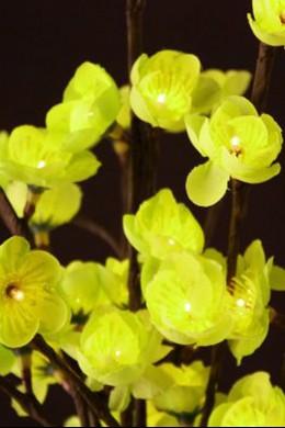 Green Plum Flower 60 Light 40 Inch, Battery Operated [GRFL6040-B]