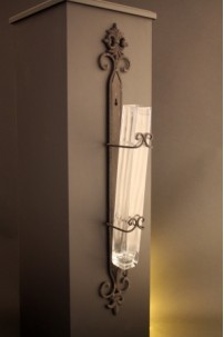 METAL & GLASS WALL SCONCE* [GWLVSE]