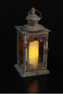 "Moroccan Café Lantern, Height: 13"" [L5002]"