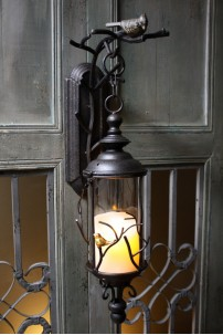 "Avian Rustic Lantern, Height 25"" [L5004]"
