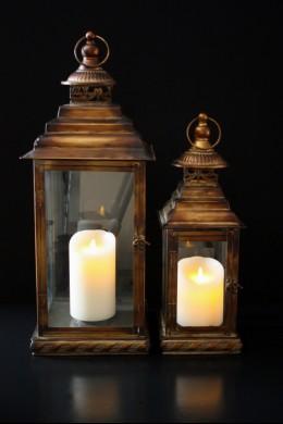 "Copper Impressions Lanterns, Heights 18"", 25"" (Set of 2) [L5005]"