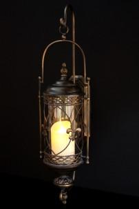"""Fleur De Lis Lantern, Height: 30"""" [L5009]"""