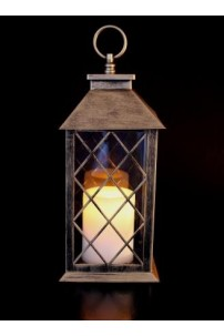 "Colonial Lantern, Bronze Finish, with LED Candle, Height 11"" [LANCOLBRNZ]"