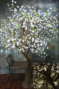 880 Light 7' Blossom Tree, Cool White LEDs [TREBLCW880]