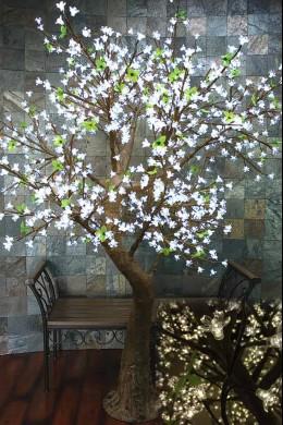 880 Light 7' Blossom Tree, Cool White LEDs [TREBLCW880]