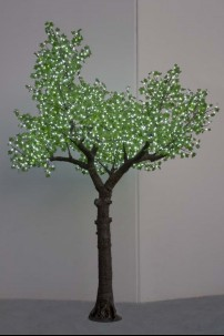 2600 Light 14' Green Leaf Maple Tree, Warm White LEDs [TREMAP2600-GR-14]