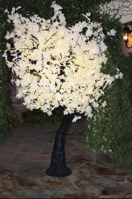 880 Light 7' White Leaf Maple Tree, Black Trunk [TREMAP880-BL]