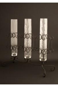 Triple (Metal & Glass) Vase [TRVSGL]