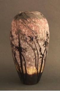 Etched Branch Vase 11.5 Inch [V1101]
