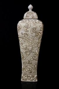 Brocade Tapestry Ginger Jar [V11510]