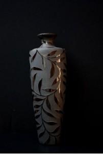 Leaf Impressions Vase 21 Inch [V9001]