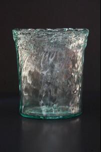BEACH GLASS WAVE VASE 11 INCH [V9013]