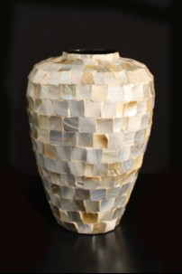 Ceramic Inlay Vase 16 Inch [V9015]