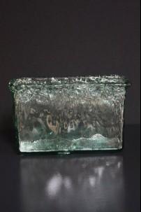 BEACH GLASS WAVE VASE 8 INCH [V9024]