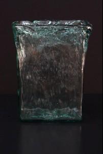 BEACH GLASS WAVE VASE 12 INCH [V9026]