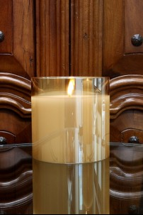 "6""D x 6""H CHAMPAGNE RADIANCE POURED CANDLE   [478246]"
