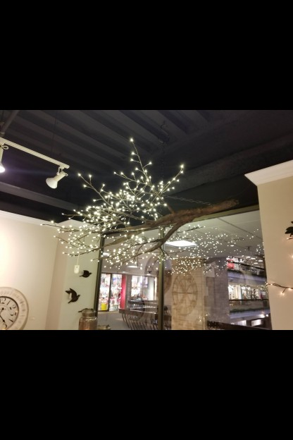 480  WARM WHITE LED  BRANCH CHANDELIER, NATURAL, 6 1/2' W X 7' L  (316243)