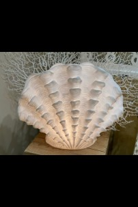 "17"" x 9.25"" LARGE STANDING SCALLOP LAMP [480732]"