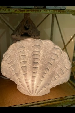 """OUT OF STOCK 14"""" x 8"""" SMALL STANDING SCALLOP LAMP [480731]"""